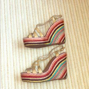 Kate Spade rainbow wedges